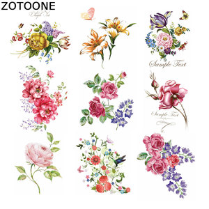 ZOTOONE Stripes for Clothes Flowers Iron on Transfer Patche Fleur De Lis Applique Clothes Washable Application Thermo Stickers E(China)