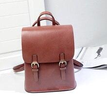 A1718 Мода 2017 Дизайн женские кожаные рюкзаки студент рюкзак женские кожаные сумки Упаковка для подростков школьная сумка