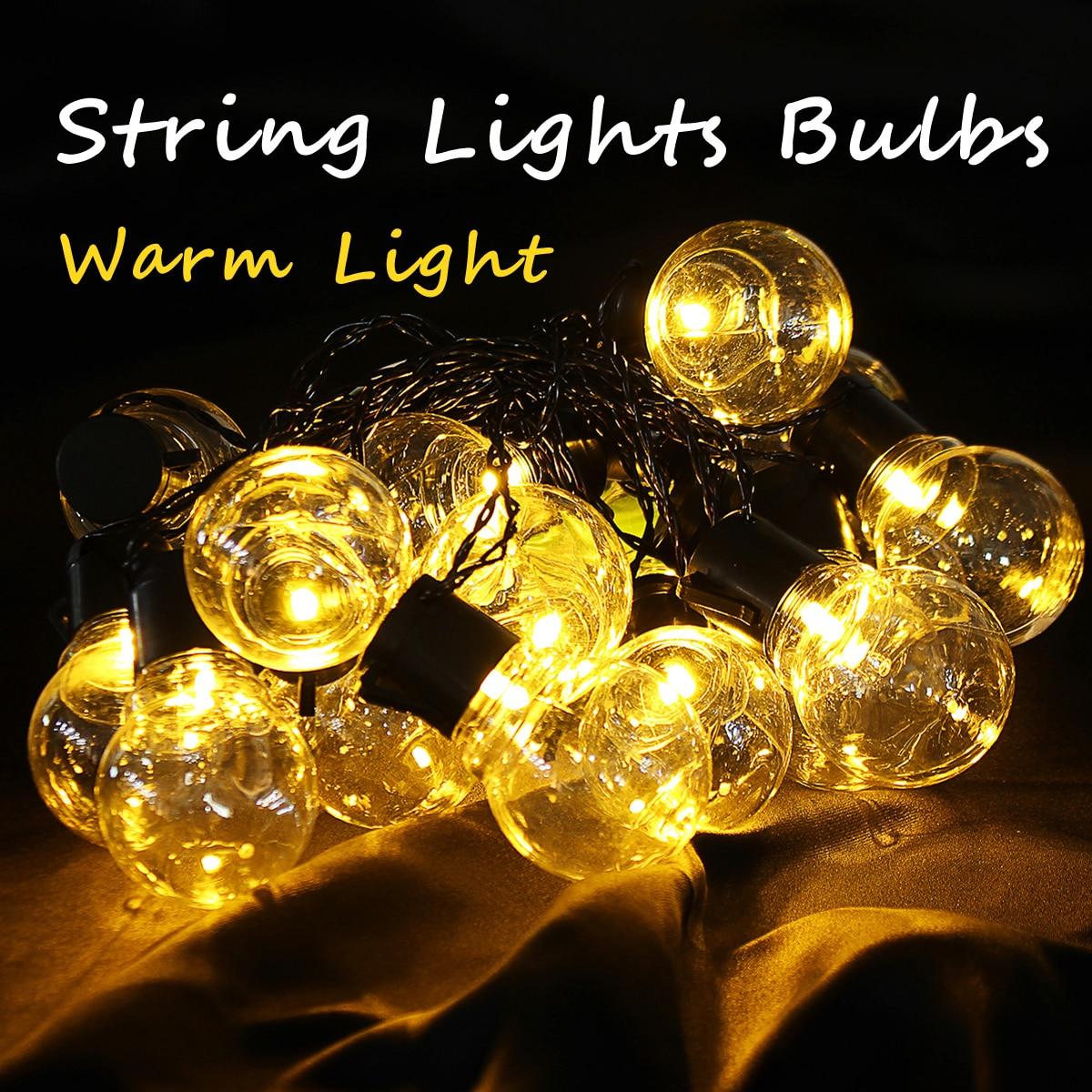 Commercial Globe String Lights: Aliexpress.com : Buy 10/20 Pcs Yellow Light Outdoor