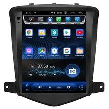 Tesla Style Android 8.1 Car Radio GPS Navigation DVD Player Stereo Headunit for Chevrolet Cruze 2009-2013 2 Din CarPlay OBD WIFI цена