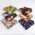 Flor de Hankerchief bufandas de lino del Vintage Paisley pañuelos de bolsillo pañuelos cuadrados 22 * 22 cm