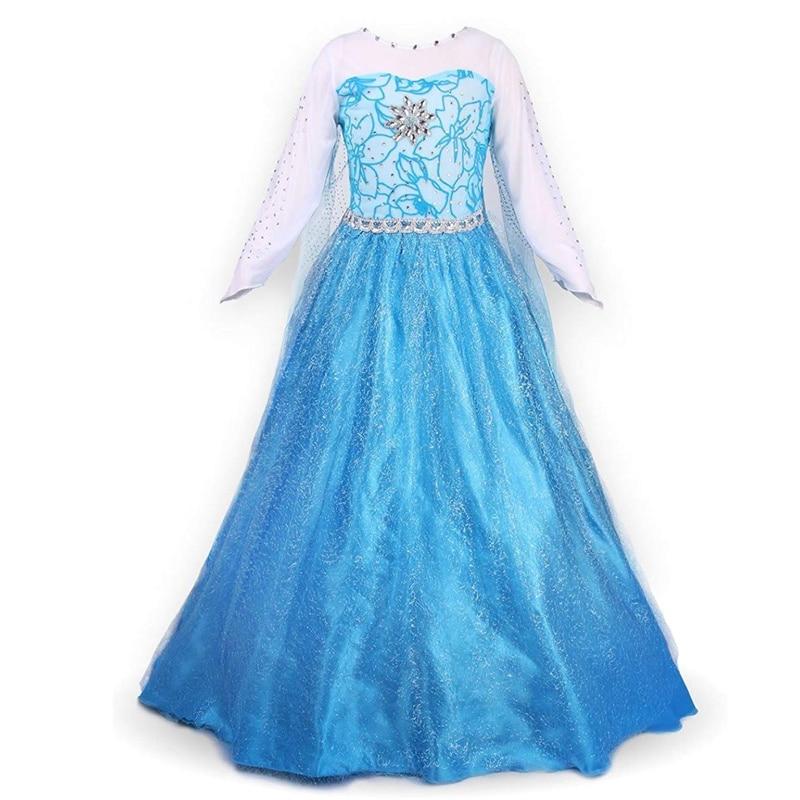 388f2b48f Princesa Anna Elsa vestido para Niñas Ropa Cosplay disfraz princesa Elza  vestido para boda cumpleaños fiesta ropa