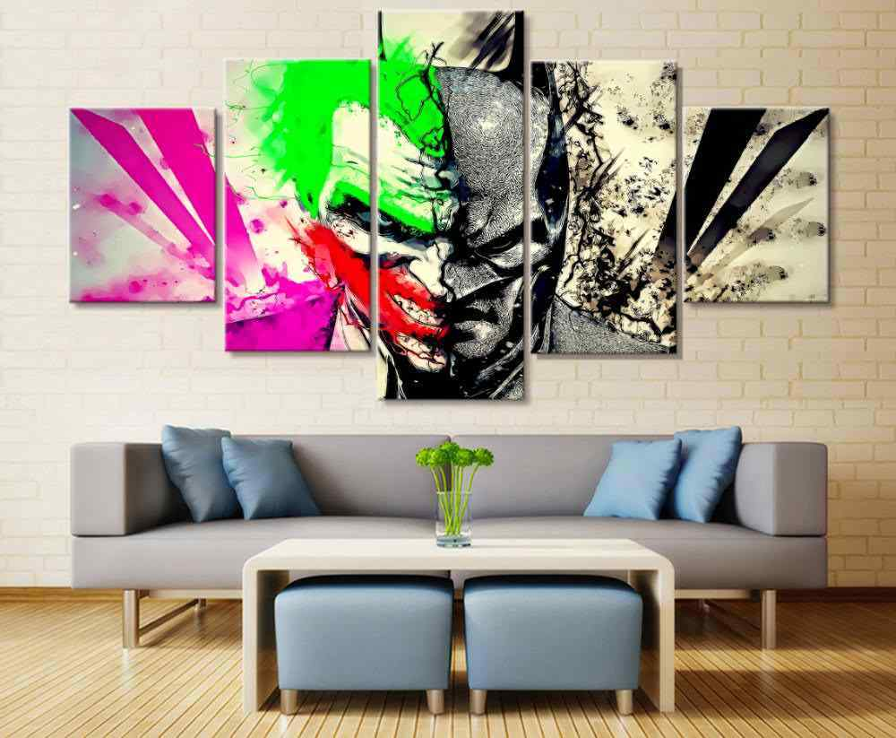 Home decor canvas print painting wall art batman joker two face poster wall decor printed painting