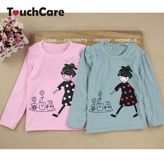 Clearance Kids Toddler Clothes Baby Girls Clothing Cartoon Girl Print Long Sleeve T shirts Casual Blouse Tops Children Clothing