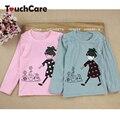 Crianças Criança Roupas Meninas Roupas de Bebê Menina Dos Desenhos Animados Impressão de Manga Comprida T camisas Casual Blusa Tops Vestuário infantil