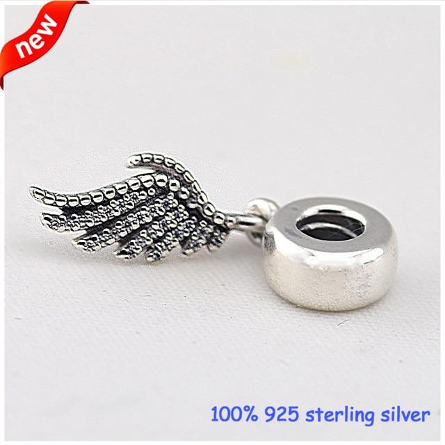 Adapta a las pulseras europeas Majestic la pluma cuelgan de plata encantos con CZ nuevo 100% 925 cuentas de plata DIY venta al por mayor 11267