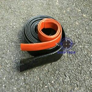 Image 5 - Manches de protection contre la flamme vulcain noire, 3/4 pouces X 3 pieds, protection contre la flamme en fibre de verre, pour tuyau de moteur