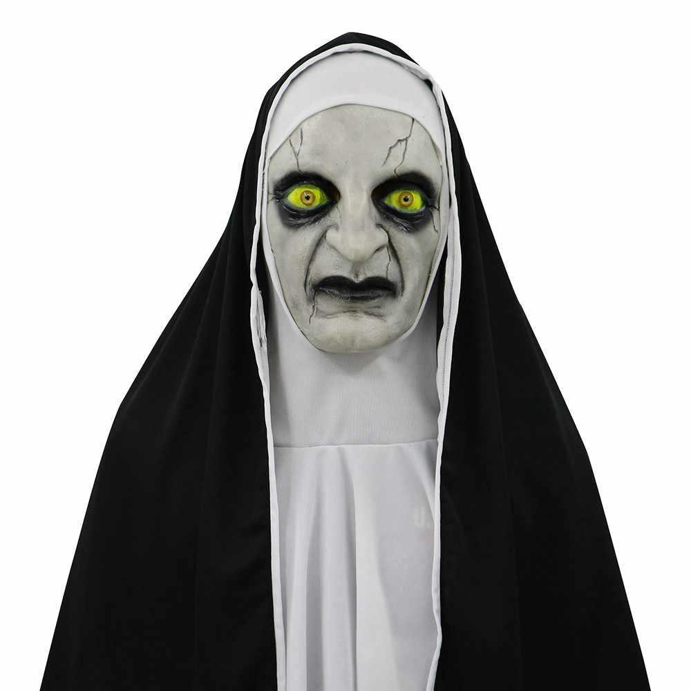 Asustadiza La Halloween Nave Terror Juguete Niños Monja Miedo Juguetes Máscara De Conjuración Diablo Con Cara Para Femenina Traje mvnNw80