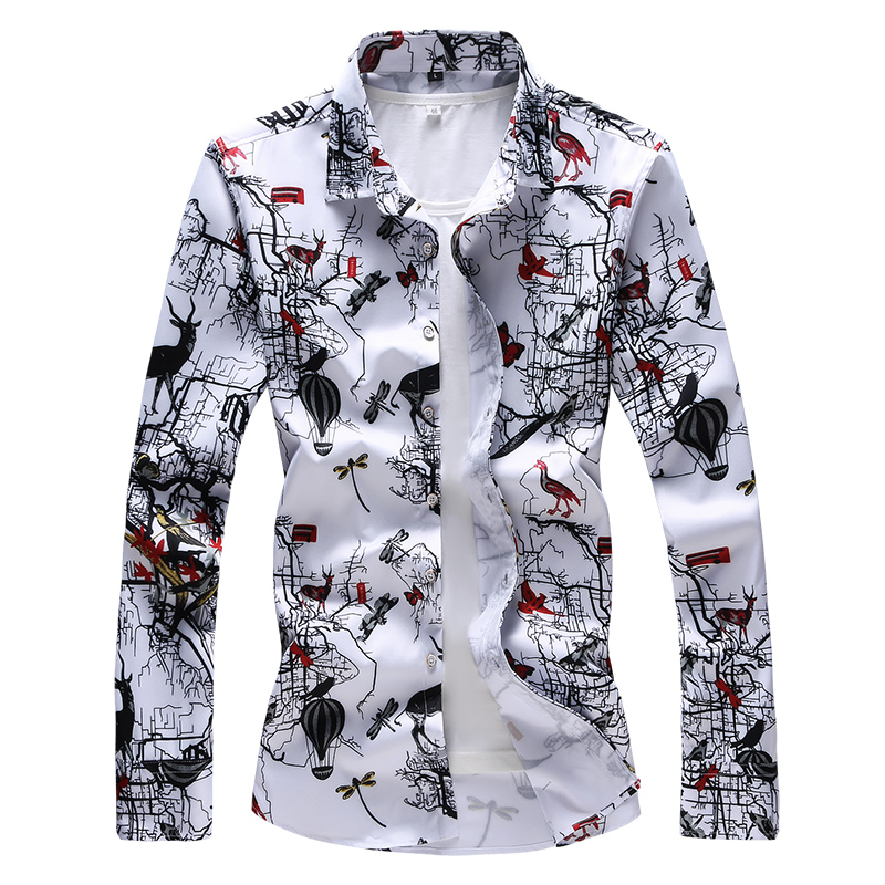High Quality Print <font><b>Men</b></font> <font><b>Shirt</b></font> Brand New Autumn Winter Long Sleeve <font><b>Men's</b></font> Casual <font><b>Shirts</b></font> Plus Size 7XL <font><b>6XL</b></font> 5XL Business Male <font><b>Shirt</b></font> image