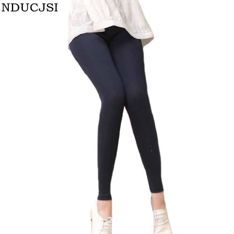Nducjsi Summer Leggings  Modal Long Pant Women Stretchy Leggings Cotton High Elastic Waist Black Gray White Legging Solid Color