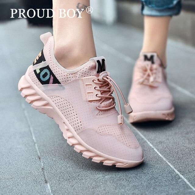 Дышащая легкая Для женщин кроссовки белый розовый черные кроссовки для женщин спортивная обувь для ходьбы девочки смягчают на шнуровке мягкая подошва