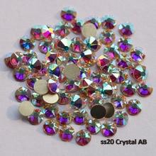 1440 adet/grup, AAA Yeni Yönlü (8 büyük + 8 küçük) ss20 (4.8 5.0mm) kristal AB Nail Art Tutkal Olmayan düzeltme Rhinestones