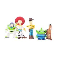 5 unids lote 4-7 cm Toy Story 3 Buzz Lightyear Woody Jessie Rex Alien  BullsEye PVC figura de acción Juguetes muñeca para niños r. 43042cd0534