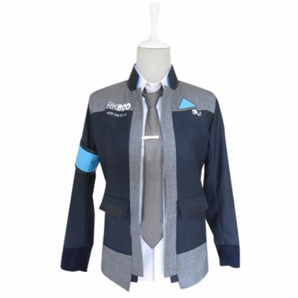 Game Detroit Become Human Connor Kara Men Cosplay Costume Full Suit Outfit Coat