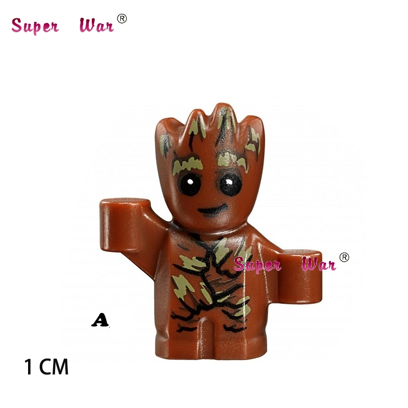 1PCS star wars super heroes marvel building blocks Guardians of the Galaxy action model bricks toys for children