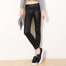 Women Pants Trousers Sexy Slim Shiny Fitness Faux Leather Legging 2019 NEW Leggings Broadcloth