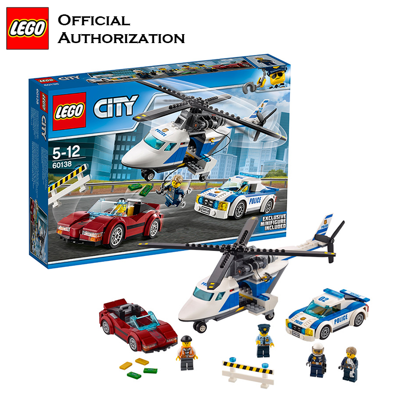 Genuine Lego Building Blocks Police Toy City Series Compatible Building Educational legoBlocks High Speed Catch Gift Toy 2017 new building blocks car toy juniors series compatible lego building educational easy to build blocks lego gift toy