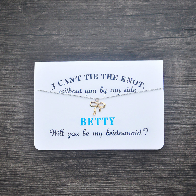 Bridesmaid Card Bridesmaid Necklace Will you be my bridesmaid - Greeting Card for Bridesmaid presidential nominee will address a gathering