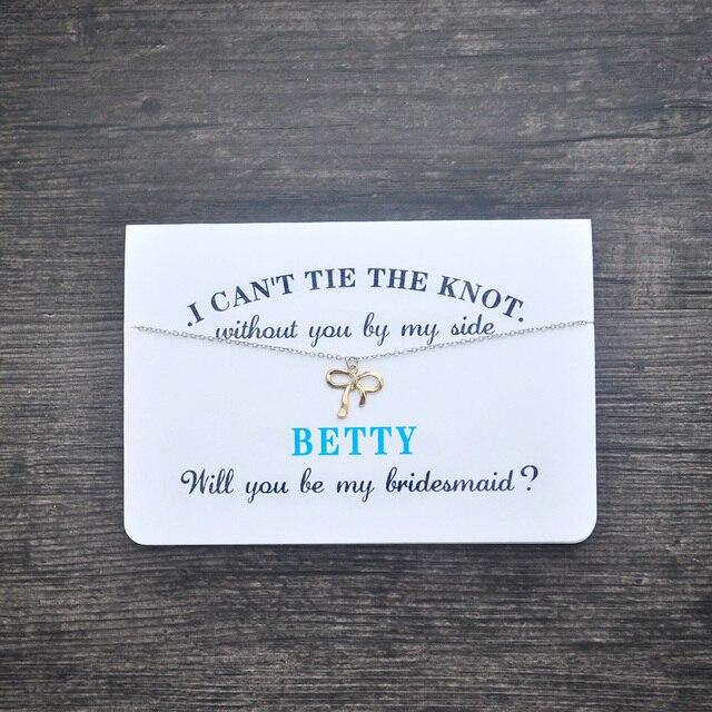 bridesmaid card bridesmaid necklace will you be my bridesmaid