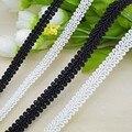 Бесплатная доставка Дешевые Высокое качество DIY белый черный кружевной отделкой плетеные для костюма украшения 8 мм сороконожка коса ленты для швейные