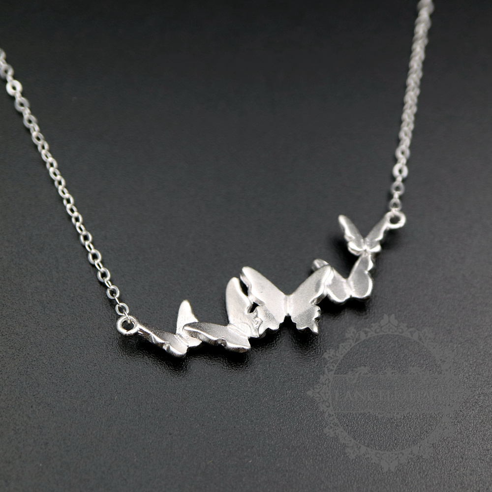 12x35mm 925 sterling silver butterfly pendant charm fashion women chorker necklace 42cm long with extension 6360500