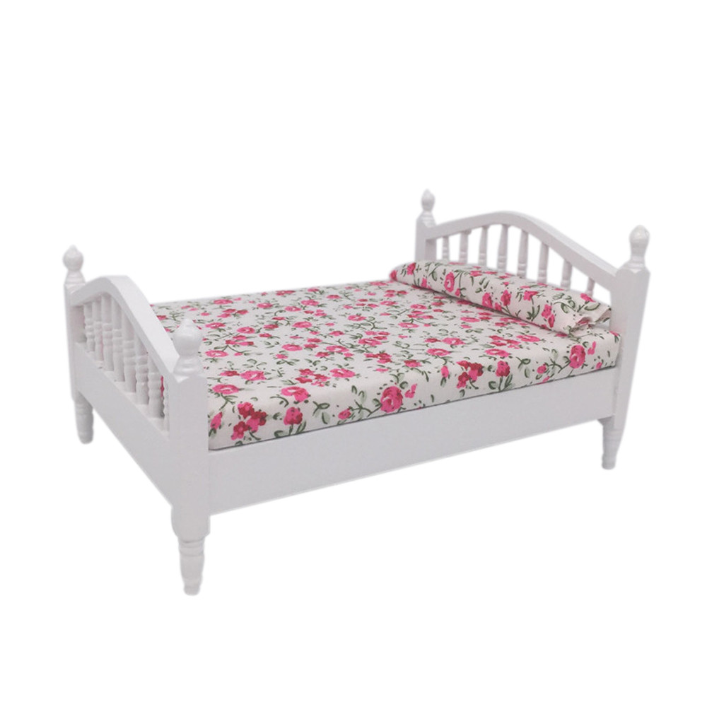 Honesty Mini Dollhouse Furniture Bed Set Miniature Living Room Kids Pretend Play Toy L305 To Be Renowned Both At Home And Abroad For Exquisite Workmanship Skillful Knitting And Elegant Design Furniture Toys