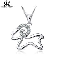 High Quality Luxury CZ silver Aries Pendant Women Jewelry Wholesale Cute Small Sheep Silver Plate Charm Child Jewelry