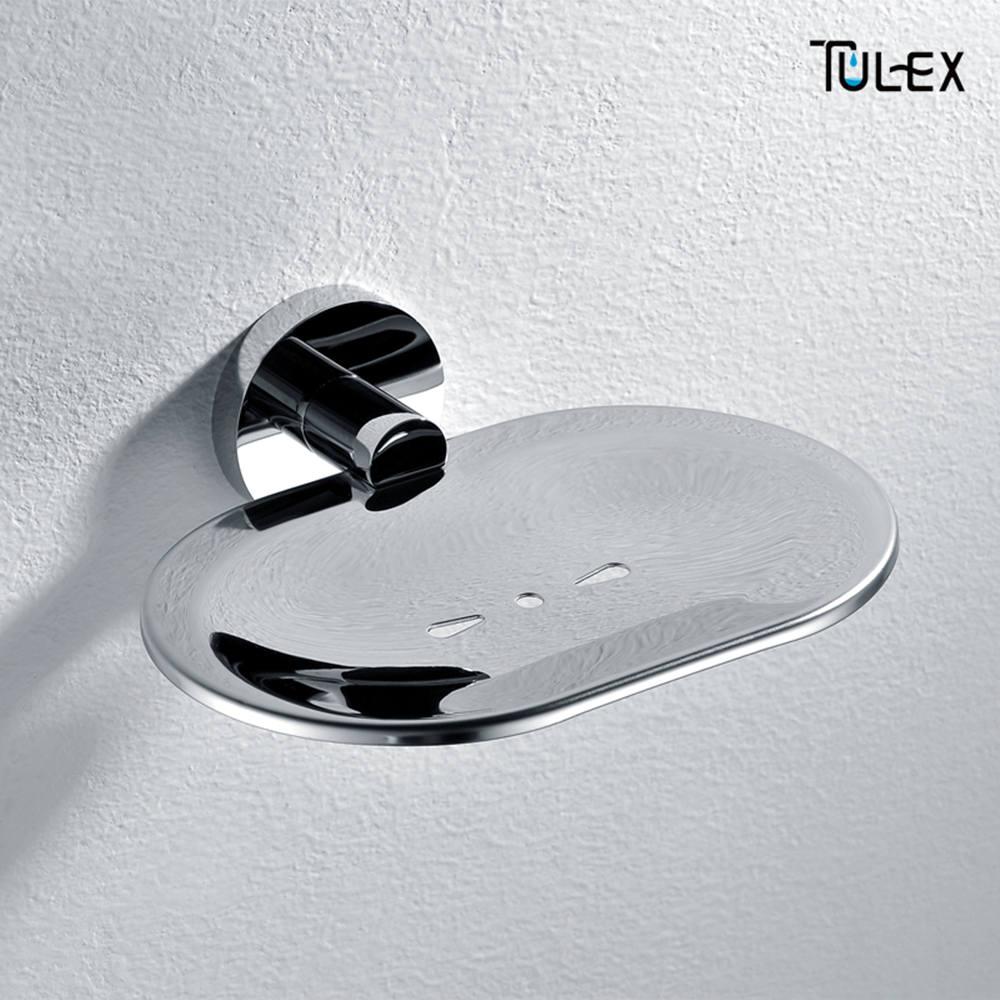 Home Improvement Tulex Soap Dish Wall Mounted Soap Holder Soap Box Soap Holder For Shower Full Brass Body Chrome Plated Accessories For Bathroom Bathroom Hardware