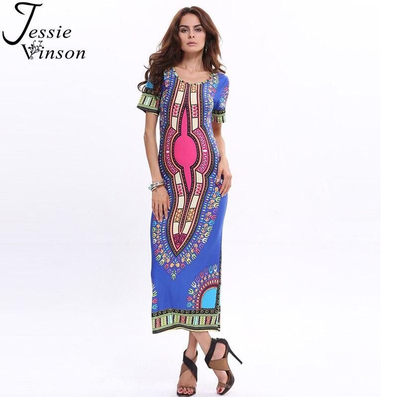 Jessie Vinson moda mujer Bohemia largo vestido más tamaño de la ...
