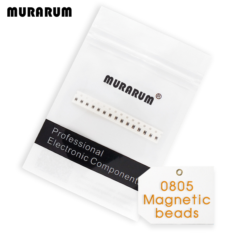 MURARUM 200PCS ferrite bead 0805 (2012) 25% tolerance chip ferrites bead smd 10 ohm ~ 600 ohm ferrite magnetic beads free shipping 500pcs lot 0805 smd resistors 75 ohm 1 8w 75r 1