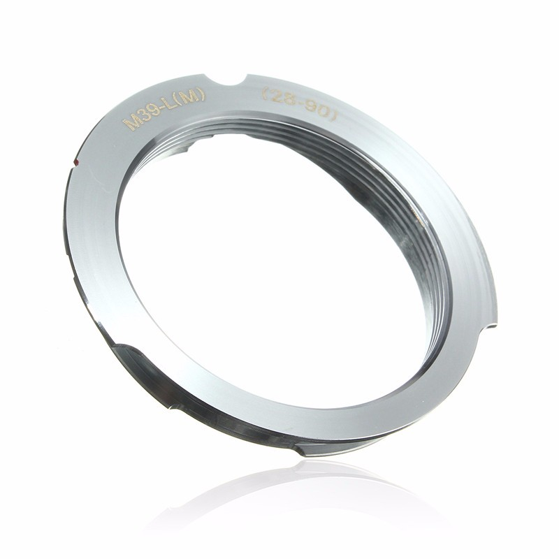 Camera Adapter For Leica M39 Screw Mount LSM LTM L39 Lens To for Leica M 28-90mm aluminium slr lens mount adapter leica m