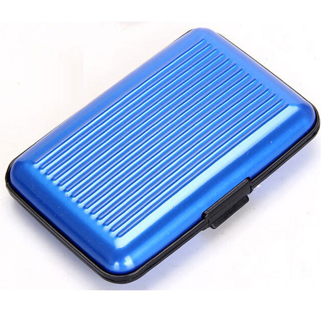 Women&Men Wallets Trendy Aluminum Metal Wallet Business Credit Card Holder Case Anti RFID ID Card Box Cartao For Unisex
