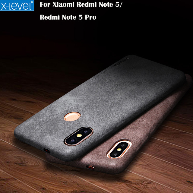 meet 12b6c 35491 US $7.64 49% OFF|Xiaomi Redmi Note 5 Case X Level Leather Phone Ultra thin  Protective Back Cover For Xiaomi Redmi Note 5 Note 5 Pro-in Phone Pouch ...