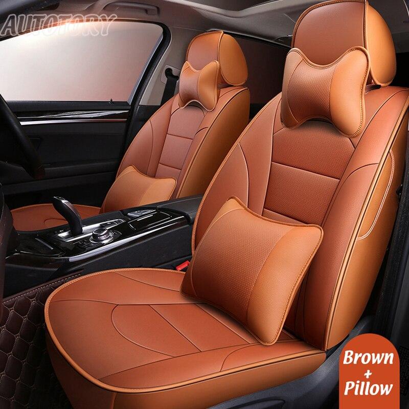 Autotory натуральной кожи автомобилей чехлы для Volvo XC60 2014 пользовательских подходят сиденья набор автомобиля протектор подушка аксессуары