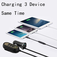 Thbelieve 4USB Car Chargers With 1.5M Charging Cords QC 3.0 And 3.4A Quick Charger Multi USB Car Chargers Portable Auto Charge