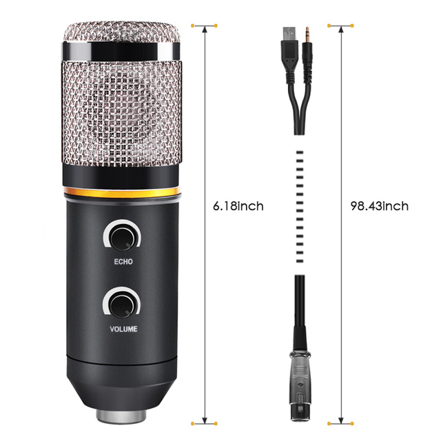 for Video Recording Karaoke Radio Studio Microphone for PC Computer Professional Microphone USB Condenser Microphone
