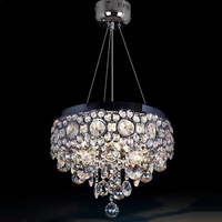 Modern Led Lustre Crystal Chandelier K9 Crystal Pendant Lamp Home Decorative Fixture Lighting Lumniare Lamp