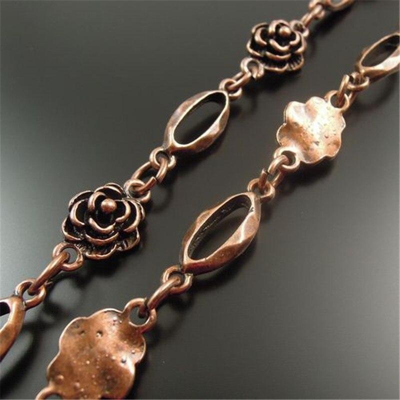 1 Meter 1 Los Antiquqe Stil Kupfer Ton Schmuck Halskette Kette 10*10 Mm (32458)