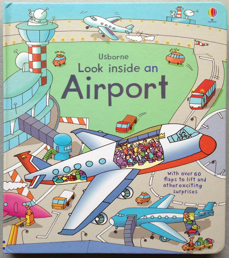 Airport English Books Children's 3D Picture Series Looking Through Look Inside Kid Original Baby school Educational supplies look inside 3d english children books original baby school educational supplies picture our world 80 flaps lift gift for kids
