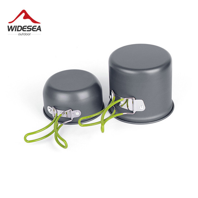 Ultralight Camping Cookware Utensils outdoor tableware set Hiking Picnic Backpacking Camping Tableware Pot Pan 1-2persons 3