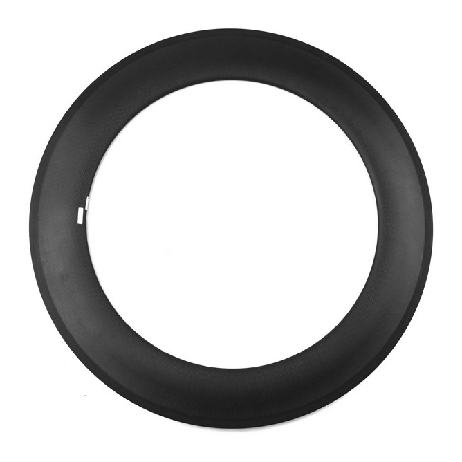 U shape 88mm clincher carbon light rims tubeless compatible for road/triathlon bicycle with basalt surface online cheap selling