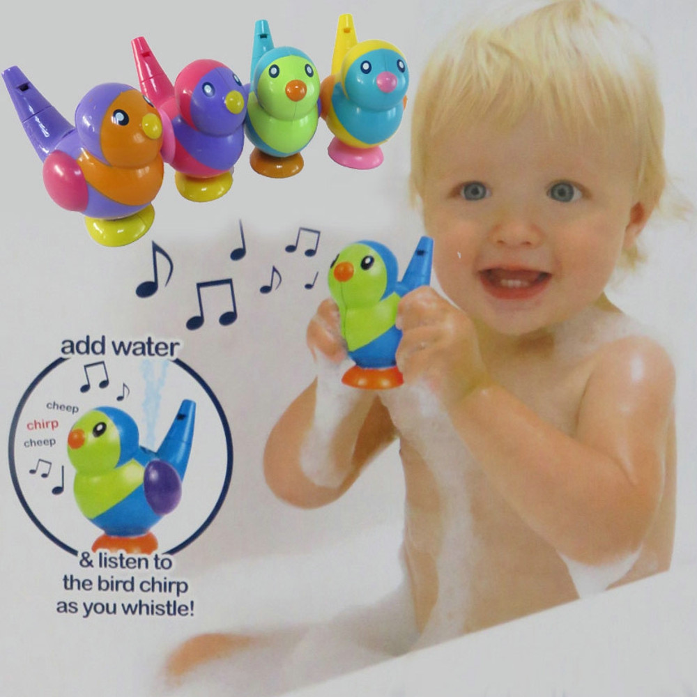 Lovely Bird Shape Whistle Kids Music Instrumental Bath Toy Baby Educational Toys