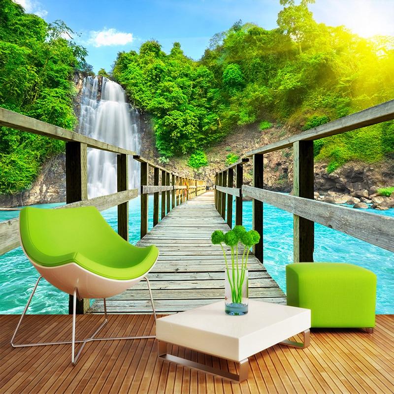 Custom 3D Room Landscape Wallpaper 3D Wall Mural Nature Scenery For Walls Living Room Sofa Backdrop Wall Paper Home Decorations