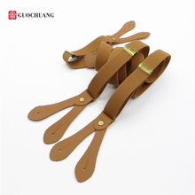 England Button strap 2.0cm wide Retro fashion suspenders Men and women Braces Personalized street pants suspenders