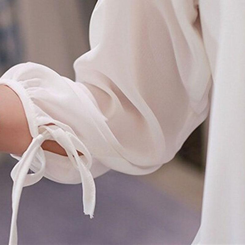 e420adda9 3     4 camisa de manga Chiffon blusa branca em Blusas e camisas de Roupas  femininas no AliExpress.com
