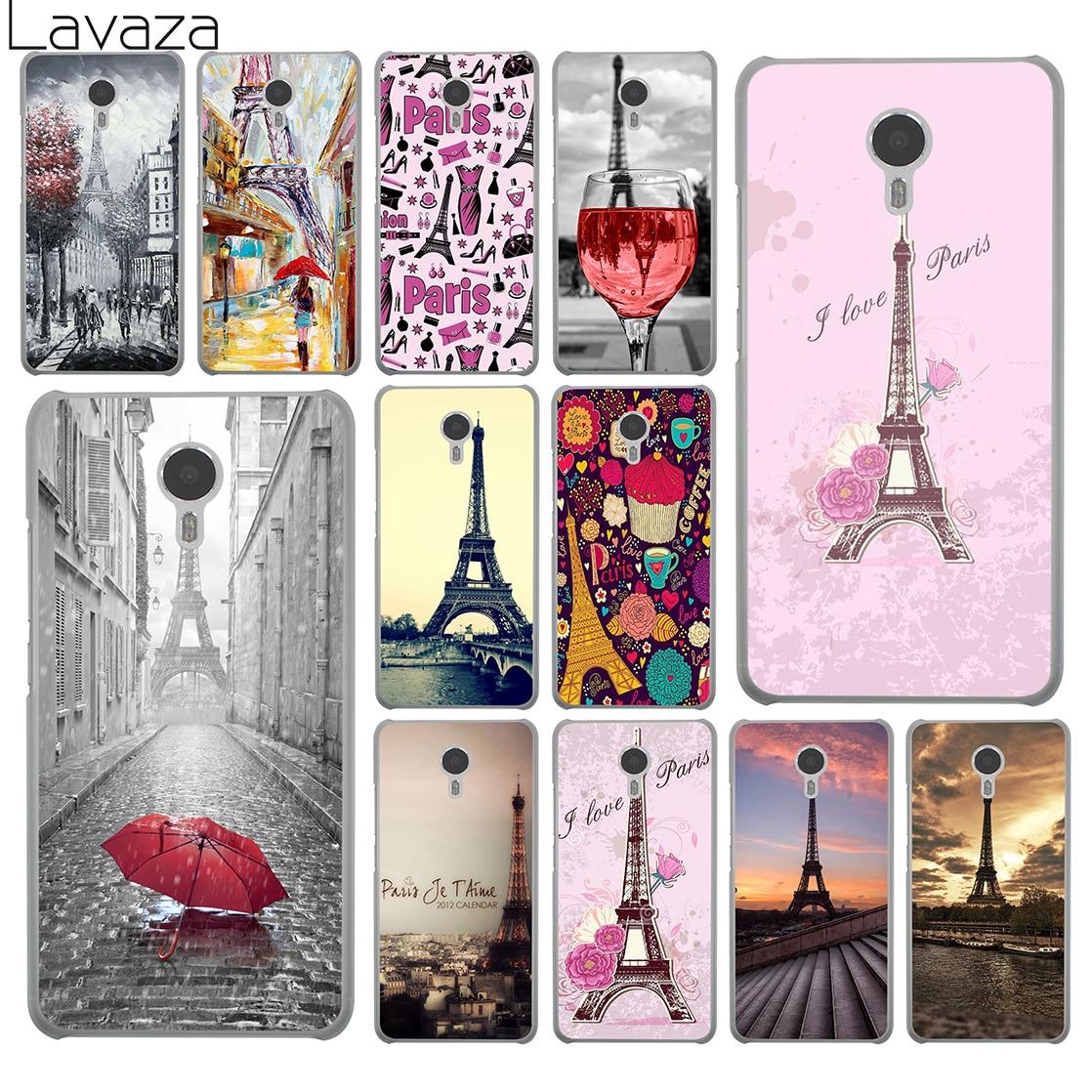 Lavaza Эйфелева башня Париж Любовь Розовый Жесткий телефон чехол для Meizu M6 M5 M5C M5S M3 M3S M2 мини примечание U10 U20 Pro 7 Plus 6 крышка