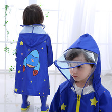 90-145cm waterproof raincoat for children,rain coat children rain suit,students primary school poncho backpack