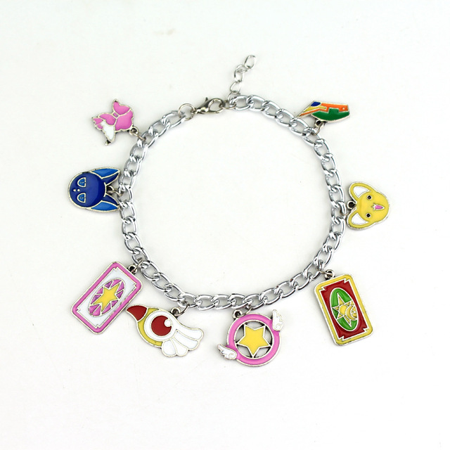 Anime Sailor Moon Shielded Star Chain Charms Bracelets Bangle Cardcaptor Sakura Magic S Stars Pentacle