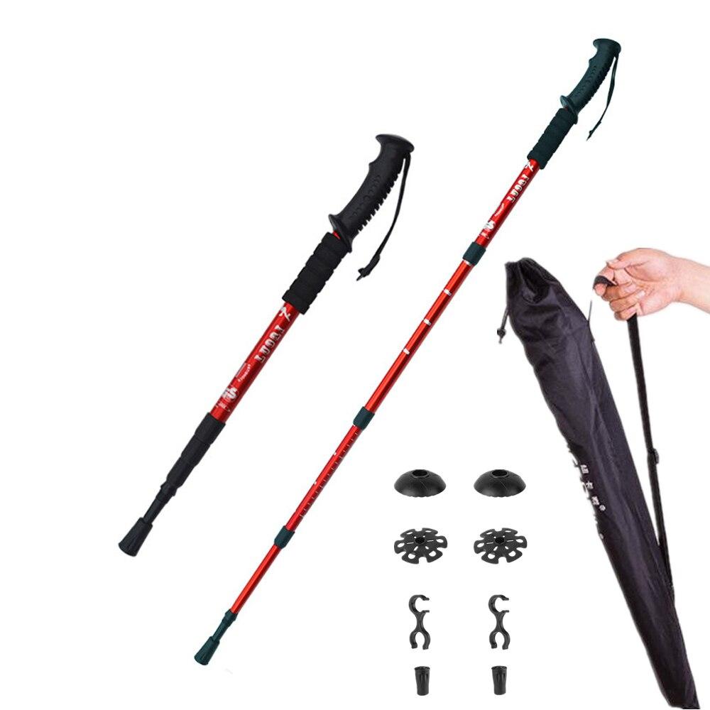 2 teile/los trekking pole Nordic Walking cane teleskop baton Aluminium Legierung nordic Walking Stick mit wandern zubehör