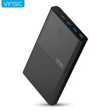 Vinsic 28000 мАч Запасные Аккумуляторы для телефонов 18650 с QC 3.0 2.4a Dual USB способ быстрого Зарядное устройство для iPhone X iphone 8 8 плюс Xiaomi Samsung S7